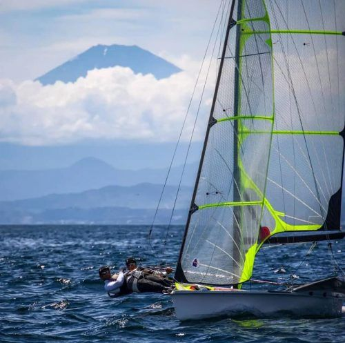 Bildstein/Hussl lassen sich im Training vom Mount Fuji nicht beeindrucken.privat