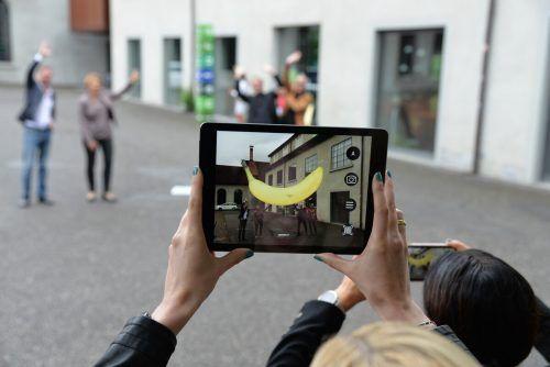 Das Augmented-Reality-Projekt führt noch bis Oktober von Kunstwerk zu Kunstwerk durch Dornbirn.Kunstraum
