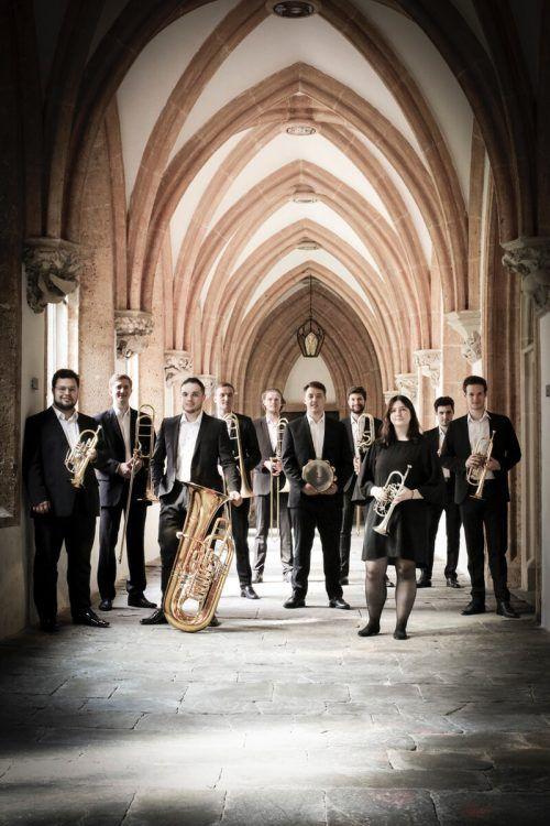 Das Austria Brass Consort konzertiert heute im Walserensemble Brand. DORIS EBNER