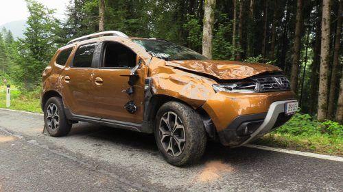 Das Auto des Alberschwenders wurde schwer in Mitleidenschaft gezogen. Shourot