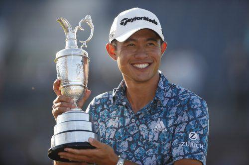 Der 24-jährige Kalifornier Collin Morikawa feierte seinen zweiten Major-Sieg.AFP