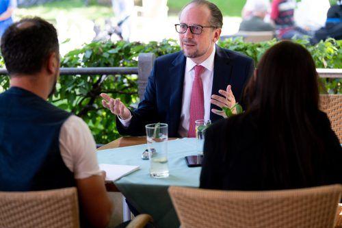 Der Außenminister war anlässlich der Bregenzer Festspiele auf Vorarlberg-Besuch. VN/Serra
