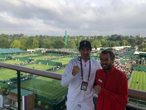 Die Routiniers Philipp Oswald (l.) und Oliver Marach vertreten Österreich beim Tennisturnier in Tokio. Privat