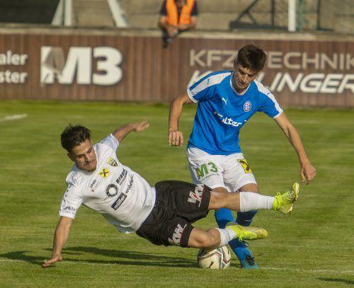 Der FC Lustenau brachte den Favoriten aus Altach zu Fall.Paulitsch