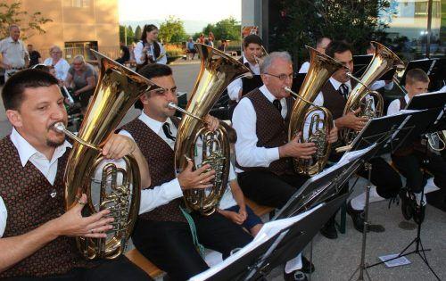 Der Musikverein Lochau lädt am Sonntag zum kleinen Lochauer Dorffest 2021 in den Schulhof ein. vn/BMS