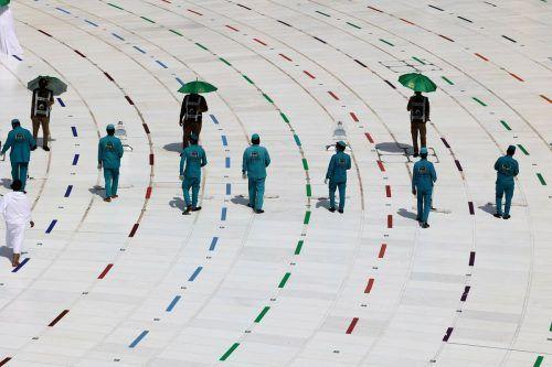 Die letzten Vorbereitungen für den Hadsch in Mekka wurden abgeschlossen, am Samstag startete er zum zweiten Mal während der Pandemie. AFP