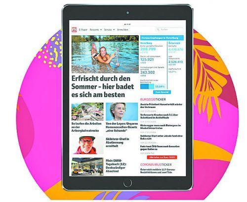 Die VN-Digital gibt es im Kombiangebotmit einem neuen Tablet. vn