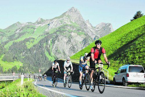 Die VN verlosen 10 Startplätze für den Highlander-Radmarathon und die Tour rund um Vorarlberg am Sonntag, 8. August 2021.veranstalter