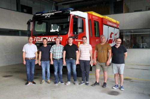 Fahrzeugausschuss Hubert Schreilechner, Daniel Gartner, Markus Schupp, Christian Schupp, Lukas Schupp, Markus Grote und Wolfgang Berkmann (Norbert Schupp fehlt).