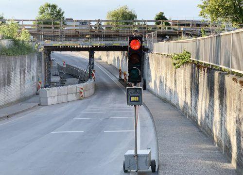 Morgen, Freitag, bleibt Bahnunterführung Mühlestraße bis 19.40 Uhr gesperrt. ajk