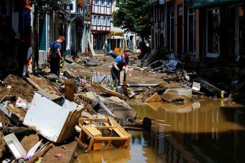 Nach der Flutkatastrophe geht es vielerorts ans große Aufräumen.Reuters, AP, APA,