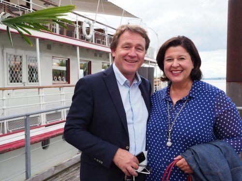 Patrick und Verena Brunner-Loss als interressierte Gäste.