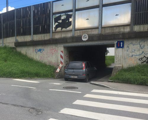 Autos dürfen bald nicht mehr durch die Unterführung Fang hindurch.VN-pes
