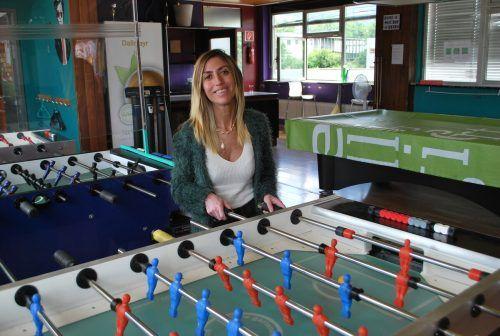 Tischfußball macht Spaß, auch ohne große Erfolge, weiß die erfahrene Jugendarbeiterin.ERH (2)