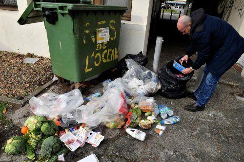 Weltweit werden Tonnen von Lebensmitteln weggeworfen. Trotz der guten Sensibilisierung für das Thema landen allein in Österreich jährlich 521.000 Tonnen im Müll. AFP