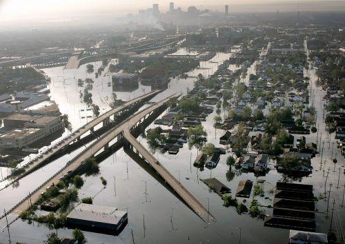 """2005 stürzte """"Katrina"""" die Stadt New Orleans ins Chaos. Der Wirbelsturm gilt als eine der verheerendsten Naturkatastrophen in der Geschichte der Vereinigten Staaten. AP"""