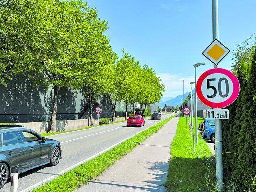 Ab sofort gilt es, auf der L 190 in Frastanz langsamer zu fahren.Gemeinde