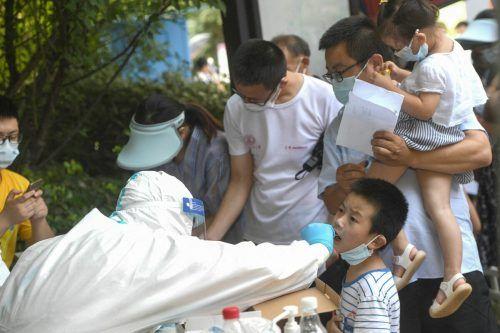 Als Reaktion auf Delta testet das einstige Pandemie-Epizentrum Wuhan in China nun seine gesamte Bevölkerung. AFP