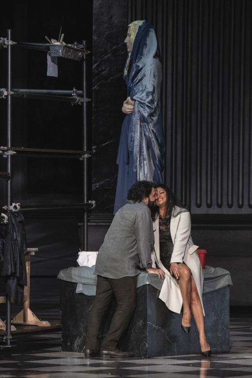 """Anna Netrebko und Yusif Eyvazov in """"Tosca"""". SF/Borelli"""