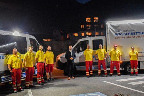 Auch Bürgermeister Simon Tschann gratulierte. Die Stadt hat die Anschaffung des Fahrzeugs mit 12.000 Euro unterstützt. wasserrettung