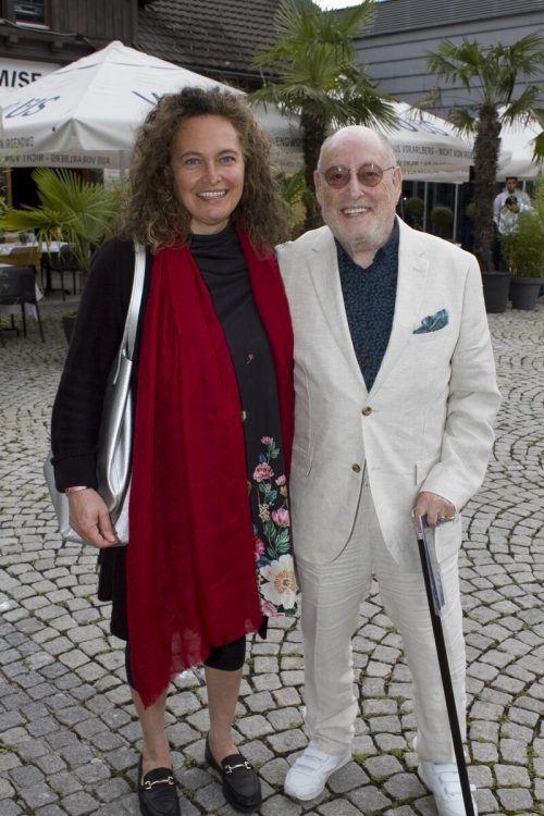 Autorin Sabine Grohs zusammen mit Alpinale Mitgründer Günther Wolf.