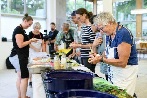Beim Kochworkshop wurden regionale Zutaten verarbeitet.