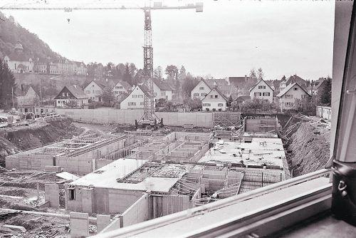 Bregenz, Baustelle Krankenhaus, 1970