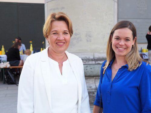 Bürgermeisterin Andrea Kaufmann und Initiatorin des Soroptimistenclubs Feldkirch, Verena Saissreiner.