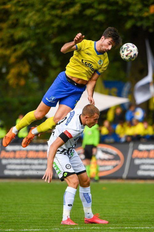 Chance auf Revanche: 2020 unterlag VfB Hohenems Sturm Graz knapp mit 1:2.gepa