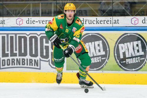 Chris D'Alvise traf im Finale des ValcomeTV-Cups für den EHC Lustenau.stiplovsek
