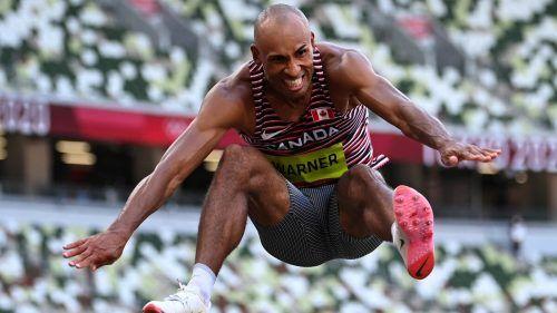 Damian Warners Gewaltsatz von 8,24 Meter hätte im Olympischen Weitsprungbewerb Bronze bedeutet. reuters