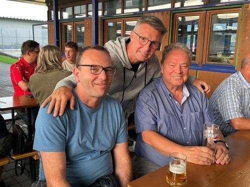Damir Canadi mit Christoph Längle und Walter Kopf (r.)Lutz/2