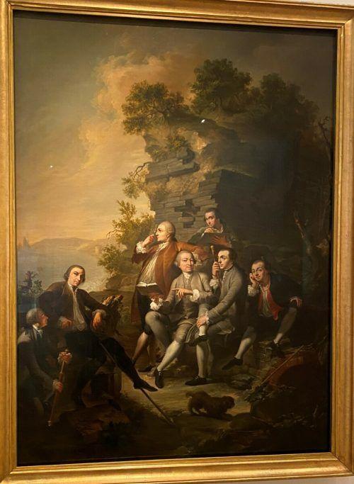 """Das Bildnis """"Graf Fries"""", 1787 von Angelika Kauffmann, und eine Reisegesellschaft von Martin Knoller, 1758, verweisen auf das Thema. museum, VN/CD"""