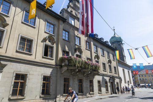 Das Bregenzer Rathaus wird außen saniert und innen umgebaut. VN/Paultisch