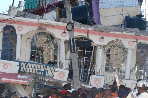 "Das Hotel ""Petit Pas"" in Les Cayes wurde komplett zerstört. AFP"