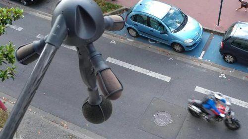 Das neue Lärmradar Méduse soll laute Motorräder und Autos aufspüren. dpa