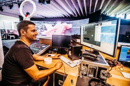 Das Studio wird für Video-Streams und digitale Events aller Art genutzt.