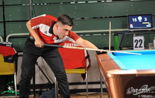 David Arda startete mit einem Erfolgserlebnis in die Europameisterschaft.EPBF