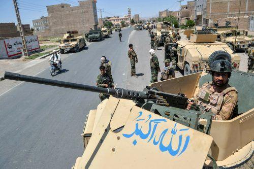 Der Abzug der internationalen Truppen aus Afghanistan setzt die dortigen Regierungstruppen zunehmend unter Druck.AFP