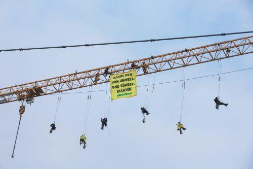 Der Beschluss des Standortentwicklungsgesetzes war von Protesten in Wien begleitet.Greenpeace