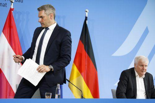 Der deutsche Innenminister Horst Seehofer wirft Österreich Egoismus vor. Innenminister Karl Nehammer kontert.APA