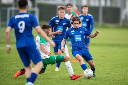 Die AKA Vorarlberg U-18 überraschte mit einem 3:1 -Sieg über Rapid Wien.vn-sams
