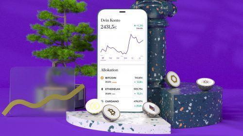 Die App von Coinpanion am Smartphone. Coinpanion