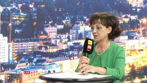 """Die Bildungsdirektorin sprach bei """"Vorarlberg live"""" über die PCR-Tests."""
