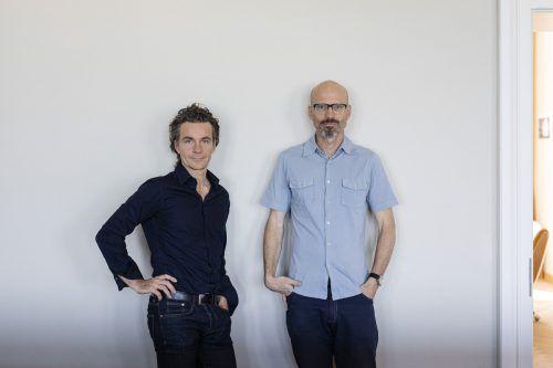 Die Bregenzer Architekten Elmar Ludescher und Philipp Lutz. FA