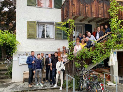 Die Bregenzer Faschingsgesellschaft unternahm einen Ausflug nach Hittisau.bfg
