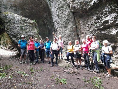 Die Bürser Schlucht war Ziel der Wandergruppe des Seniorenbunds Lustenau.SB Lustenau