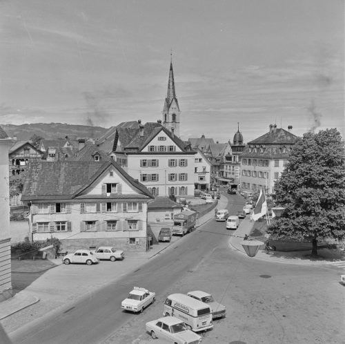 Die Dornbirner Marktstraße in einem früheren Jahrzehnt.