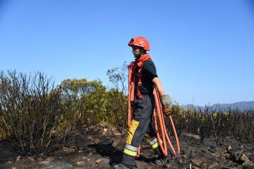 Die Einsatzkräfte haben tagelang gegen die Flammen angekämpft. AFP