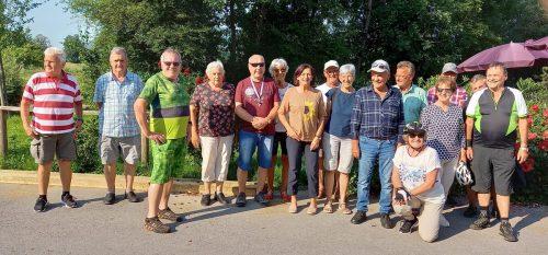 Die Fußacher Senioren machten eine Radtour ins Gütle.Seniorenbund Fußach